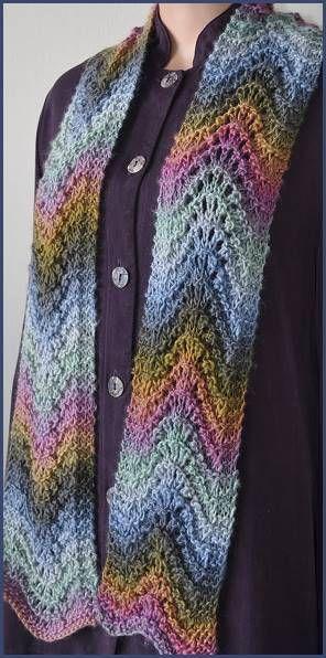 Mochi Plus Feather-Fan Stitch Scarf - Crystal Palace Yarns - free pattern