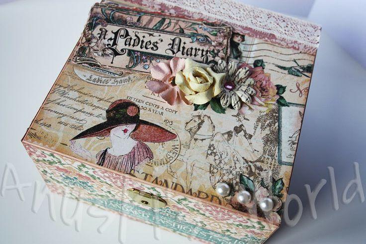 """Caja de madera decorada """"A Ladies Diary"""""""