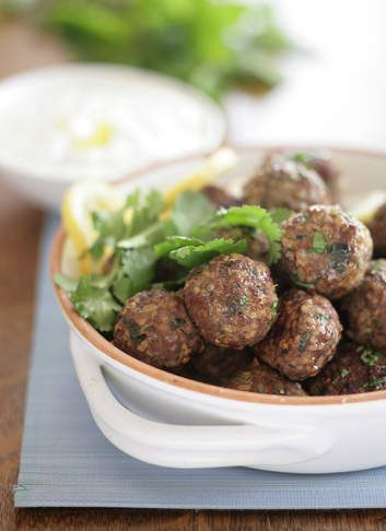 Spicy lamb meatballs.