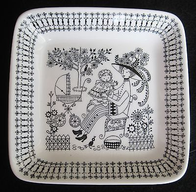Square plate - mommy and baby