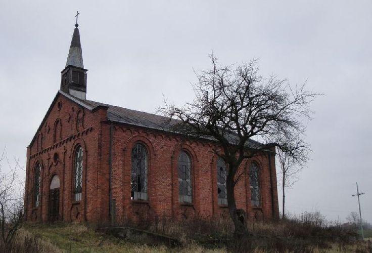 Abandoned Evangelical Church, Wiaczemin Polski, Mazowieckie province, Poland.