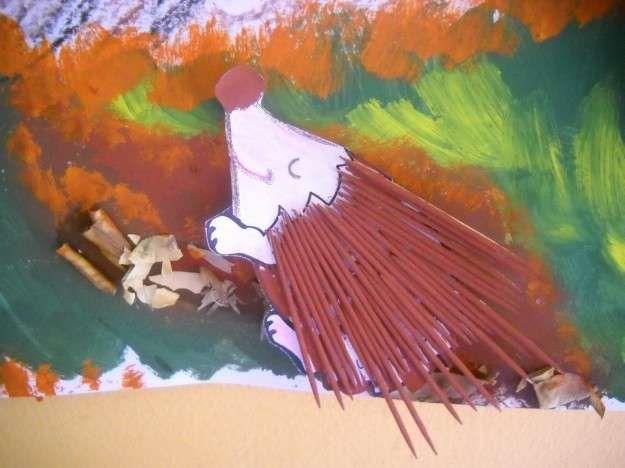 Manualidades de otoño: fotos ideas niños - Manualidades otoño erizo