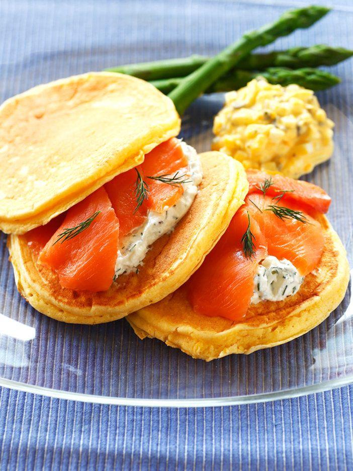 しっとり生地のパンケーキにフィリングいろいろ|『ELLE a table』はおしゃれで簡単なレシピが満載!