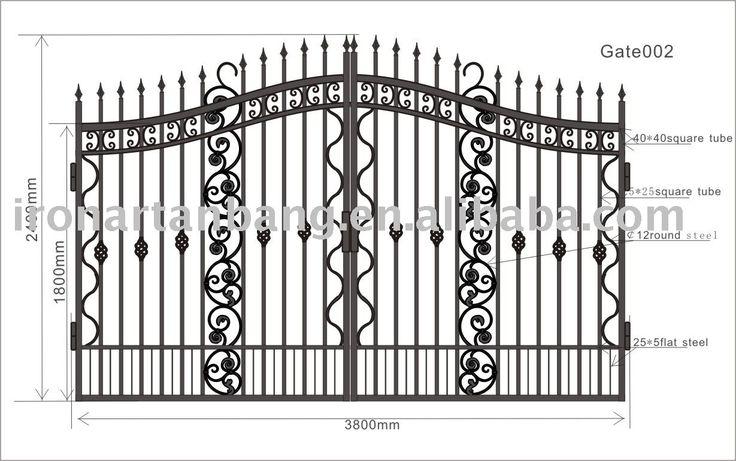 Portão de ferro fundido, forjado portão, portões de ferro-imagem-Peças fundidas e forjadas-ID do produto:242503002-portuguese.alibaba.com