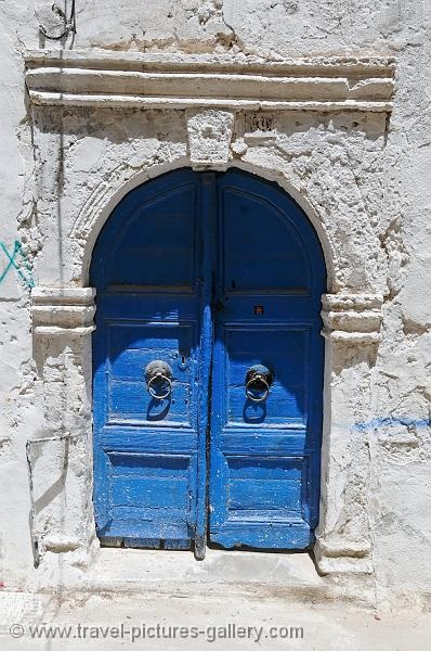 Crete, Rethymnon - ancient blue doorway, old town.   Image courtesy of Travel Pictures Gallery W2C