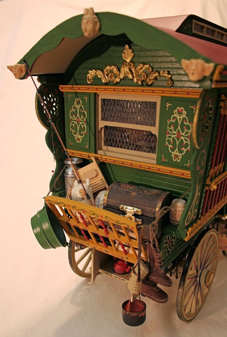 1:12 miniature Gypsy Vardo - the back  2012 Best on Show at the Annual Miniature Fair in Cape Town