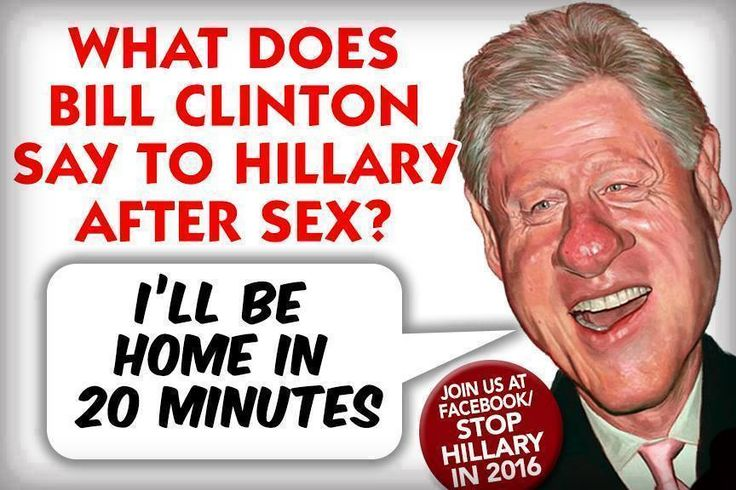 More like; What does Bill Clinton say after a RAPE? Both of them are EVIL GREEDY PIGS and Both should be in Federal Prison by now!