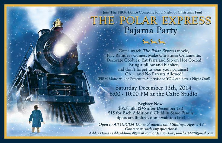 Polar Express Pajama Party Invitation u2026 : Pinteresu2026