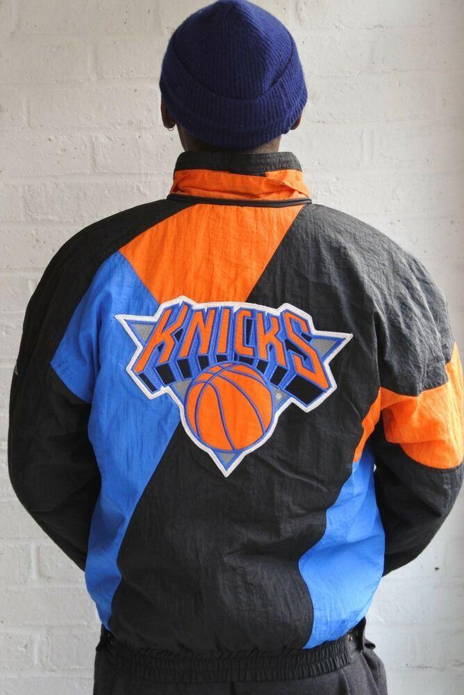 Men S Vintage Starter Zip Jacket 90s New York Knicks Apex Small Ebay New York Knicks Basketball Clothes Jackets