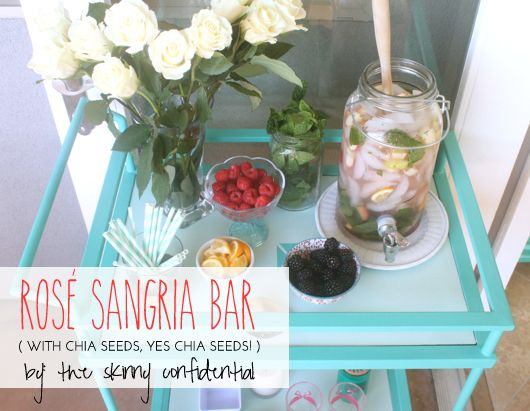 The Skinny Confidential and Rosé Sangria with Chia Seeds