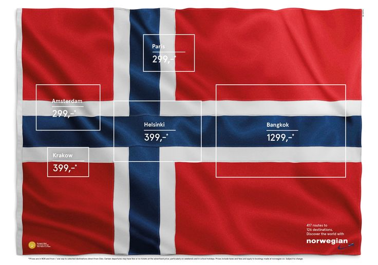 Norwegian Airlines: The flag of flags