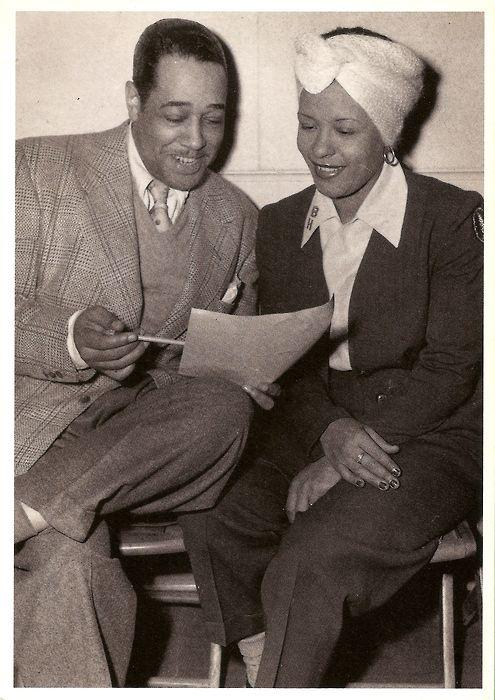 Duke Ellington and Billie Holiday, c. 1950