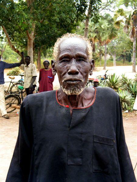 Elderly man in Rambek, South Sudan.