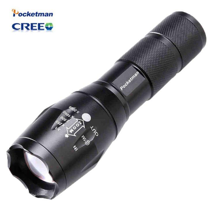 Haute Bright E17 3800 Lumens CREE XM-L T6 LED lampe de Poche 5-Mode Zoomables linternas LED Torche par 1*18650 ou 3 * AAA Livraison gratuite