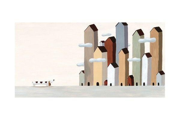Le Roi de la Patate * Dog * City * Rogé * Acrylic * Illustration * Art * Children's Books