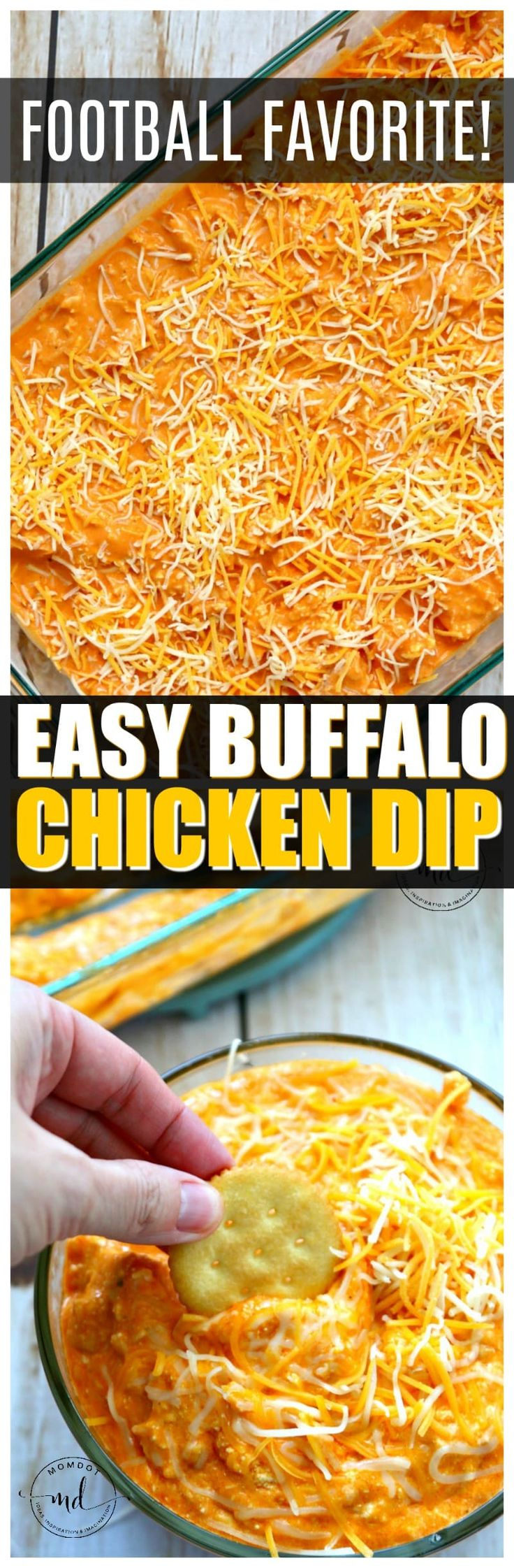 Easy Buffalo Chicken Dip Recipe  | Make buffalo dip under 30 with this awesome recipe tip! Best Dip Recipe EVER!