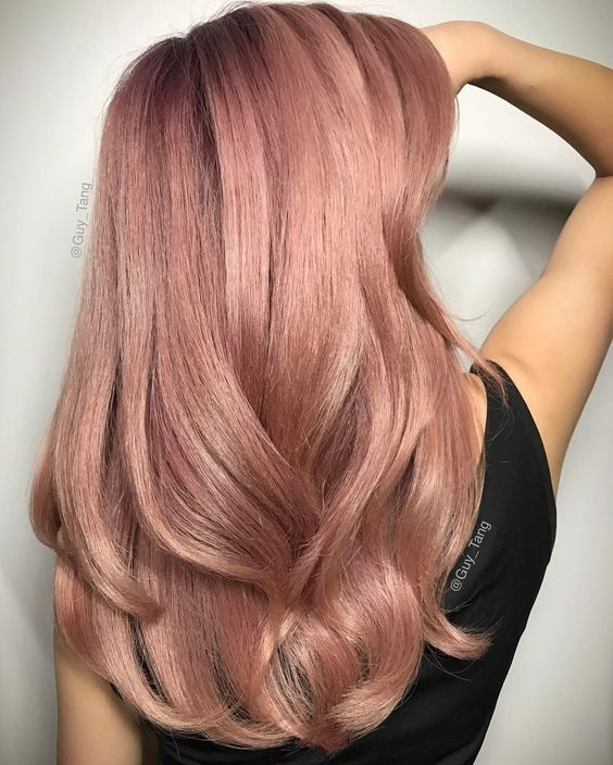 I tried it but it came a little too blonde. Are you looking for rose gold hair color hairstyles? See our collection full of rose gold hair color hairstyles and get inspired!