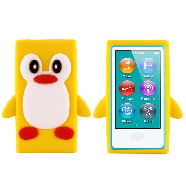 Happy Penguin (Gul) iPod Nano 7 Deksler