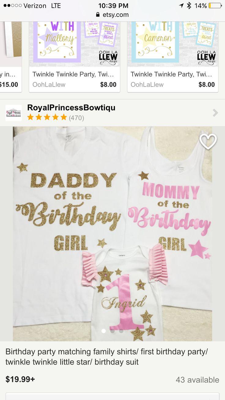 Family first birthday shirts