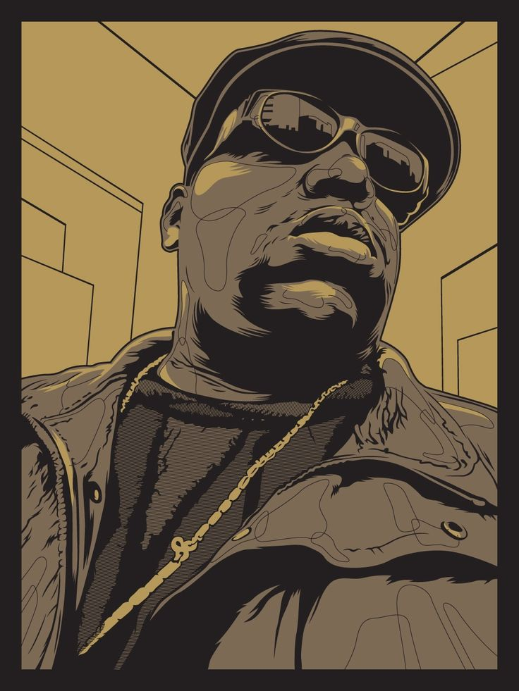 Happy birthday Biggie! (image by Joshua Budich, part of our Dead Rockstars show from 2012.)