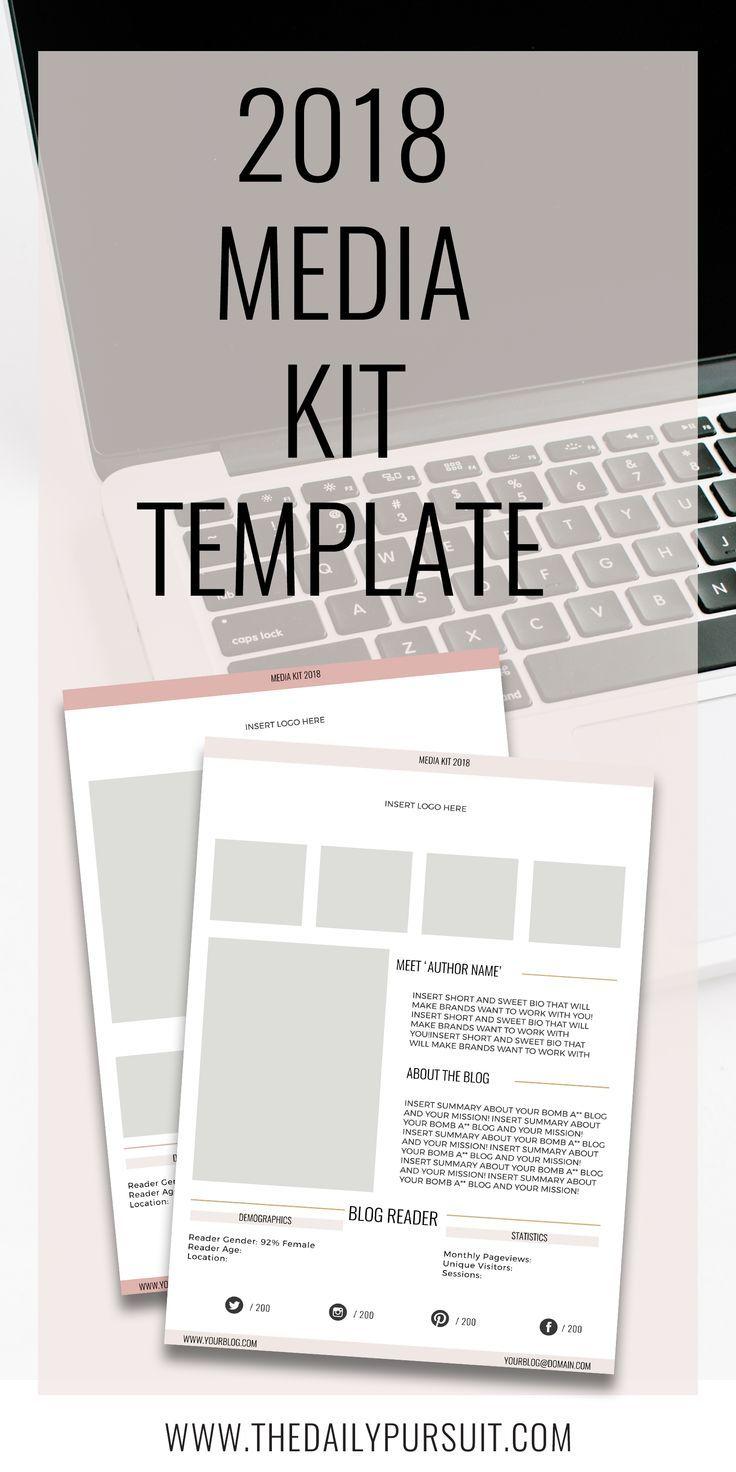 2018 Medita Kit. Media Kit Template for Bloggers.