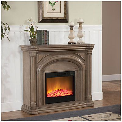 48 Quot White Wash Fireplace At Big Lots With Images Big