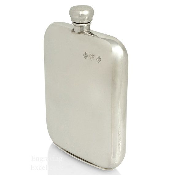 Handmade and Personalised Pewter Hip Flask. by AmazingEngraving