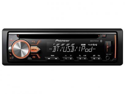 Som Automotivo Pioneer DEH-X5BR CD Player - Bluetooth MP3 Player Rádio AM/FM USB Auxiliar com as melhores condições você encontra no Magazine Proximaoferta. Confira!