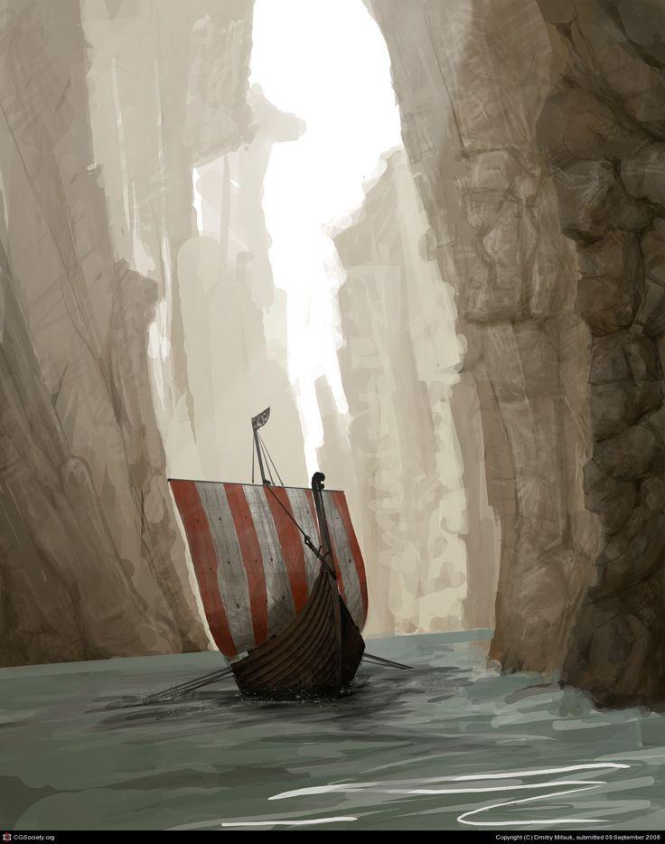 Viking\'s ship by Dmitry Mitsuk | 2D | CGSociety