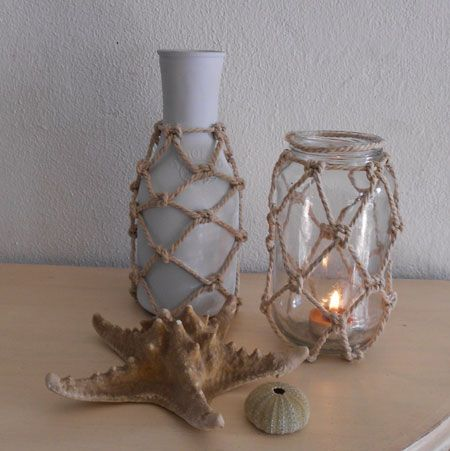 Home-Dzine - Make netted bottles and jars.