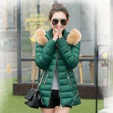 2015 taille Plus mince capuchon Down veste chaude Long hiver manteau femmes avec fourrure femmes Parka hiver vestes et manteaux CC2200S(China (Mainland))