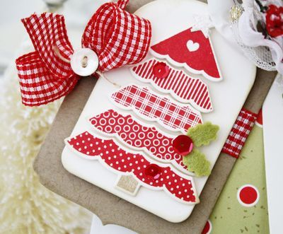 Papertrey Ink Polka-dot Parade Christmas Tree by Melissa Phillips