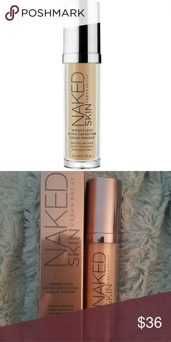 Urban decay (1.0) Naked weightless ultra defin Urban Decay?s Naked Skin Liquid Makeup leaves skin looking natural, illuminated, and bright with a luminous demi-matte finish: like the beautiful skin you were born with. Light-diffusing spheres provide a visible reduction in the appearance of fine lines and wrinkles, blurring imperfections for beautifully perfected, ultra-definition skin that looks completely real. Unused, it has been opened to make sure nozel works before listing. Shade (1.0)…