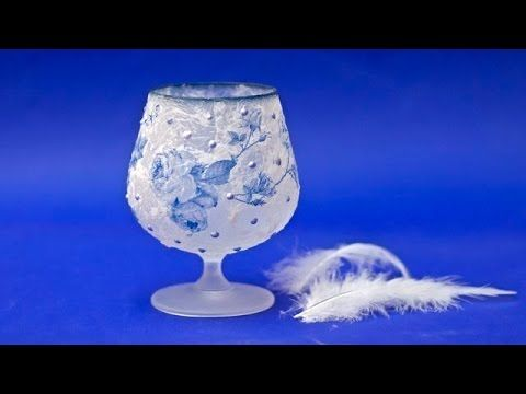 Decoupage tissue lantern - DIY tutorial - YouTube