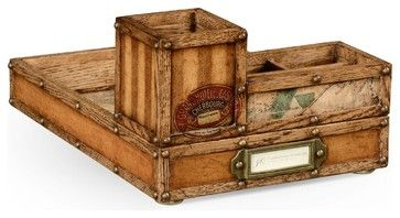 New Jonathan Charles Tray Travel Trunk traditional-decorative-trunks