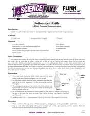 Demo - Pascal's Law - Bottomless Bottle November 2013 Activity for Physics