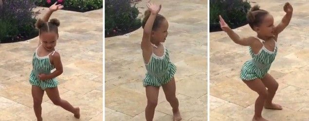Riley Curry celebrates birthday with adorable dance.