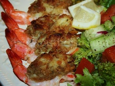Crab Stuffed Shrimp - Fresh jumbo shrimp stuffed with a mix made with buttery Ritz crackers, Old Bay, Cajun seasoning, fresh parsley and fresh crab.