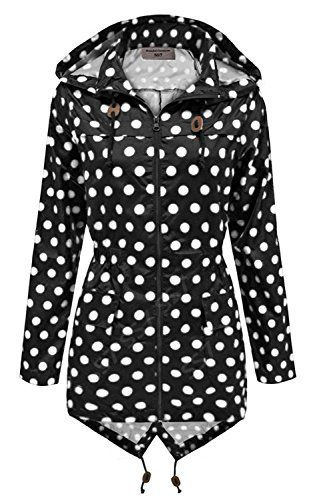1b5a270bb20ca0 SS7 - Giacca impermeabile - Parka - Donna Black with White Spots 44 ...