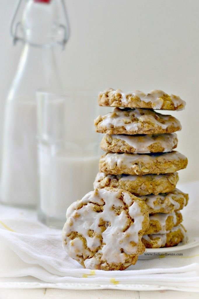 Iced Oatmeal Cookies | Recipe | Oatmeal, Cookies and Gluten