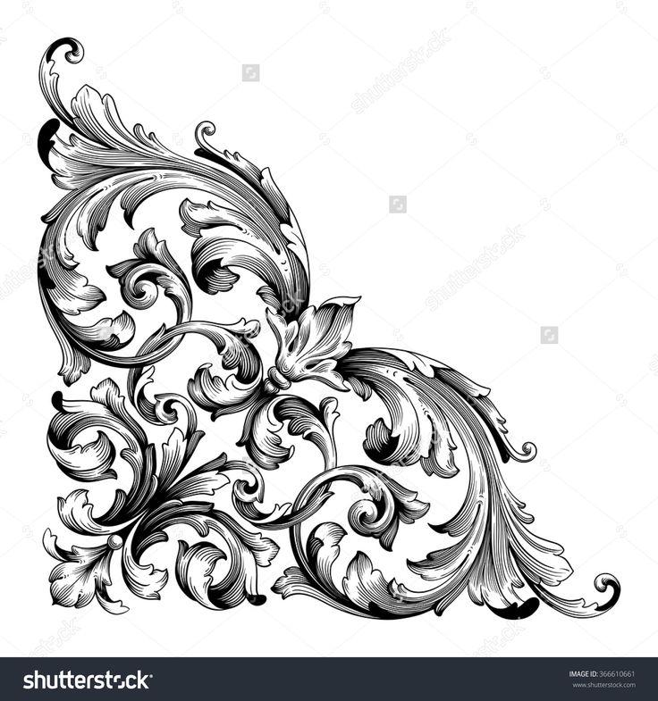 Antique Scroll Art: Best 25+ Baroque Pattern Ideas On Pinterest