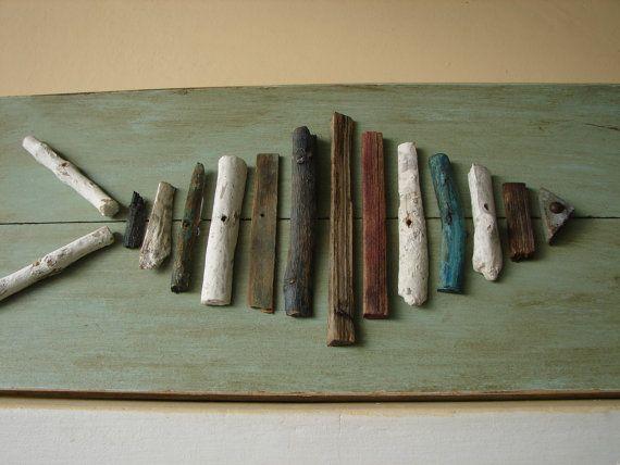 vintage driftwood fishwooden plaqueshabby by shabbyfrenchstyle, $90.00
