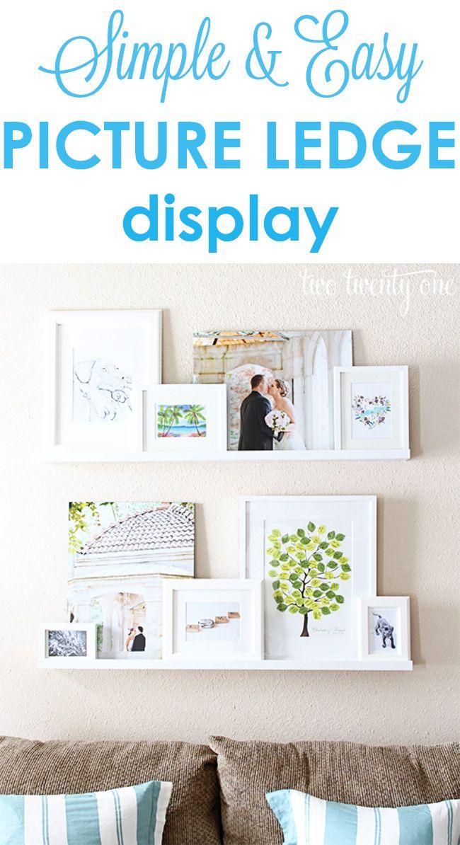 17 Best Ideas About Photo Ledge Display On Pinterest