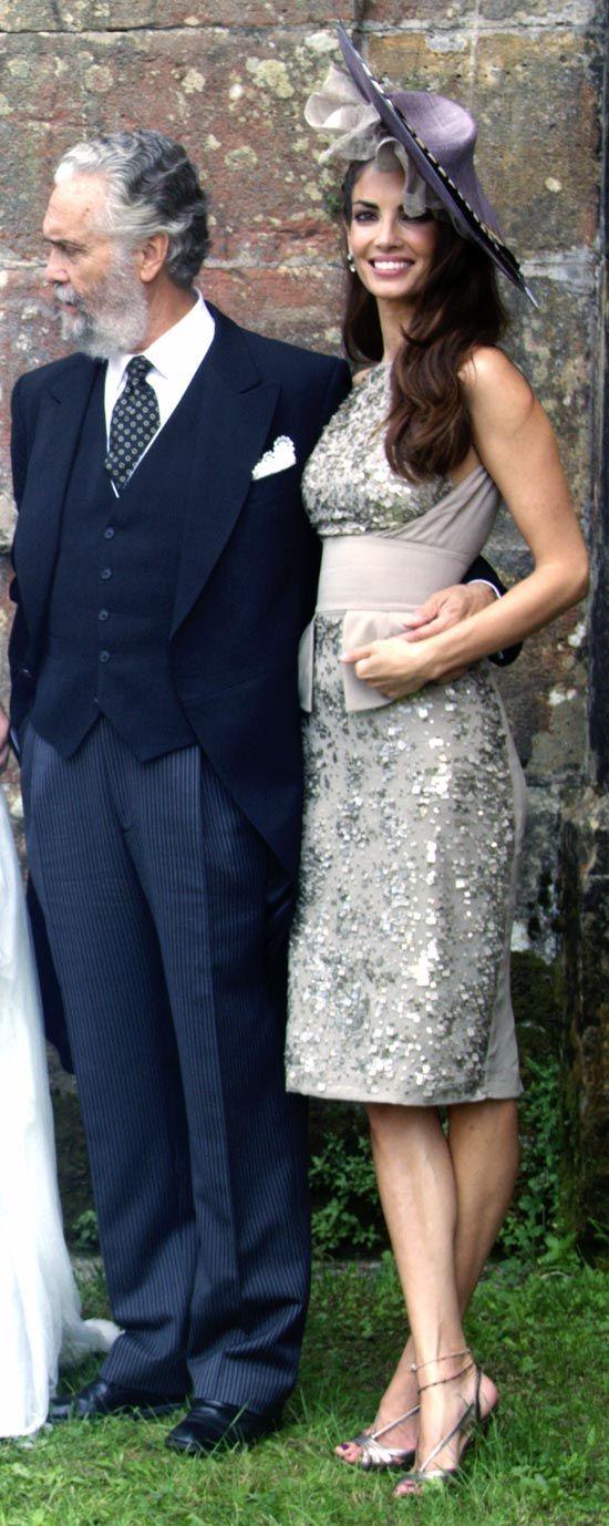 Eugenia Silva de boda con su padre