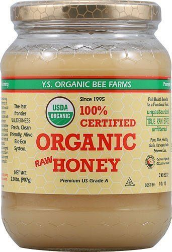 YS Organic Bee Farms CERTIFIED ORGANIC RAW HONEY 100% CERTIFIED ORGANIC HONEY Raw, Unprocessed, Unpasteurized - Kosher 32oz (Pack of 3) YS Organic
