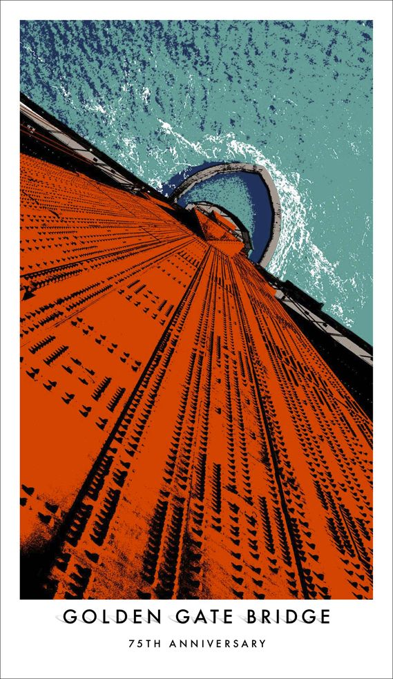 On May 27 San Francisco's Golden Gate Bridge celebrates its 75th anniversary. Working with the Golden Gate National Parks Conservatory, agency Goodby Silverstein & Partners has created a suitably grand poster campaign.