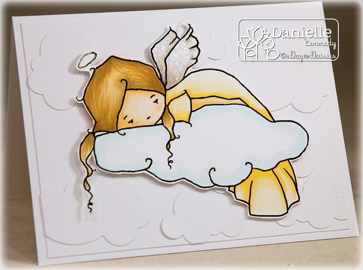 A Day For Daisies: New Release 03.22.13 ~ Light as a Cloud & Challenge #66 - White Embossed Background...