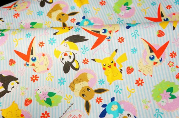 pokemon fabric pikachu by beautifulwork on Etsy, $14.98