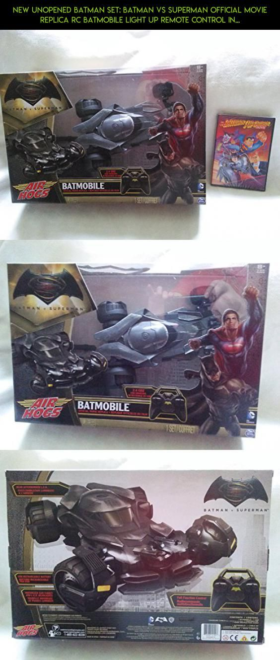 New Unopened Batman Set: Batman vs Superman Official Movie Replica RC Batmobile Light Up Remote Control In Unopened Box and The Batman Superman Movie Cartoon Unopened #racing #batman #drone #batmobile #parts #gadgets #vs. #plans #air #technology #camera #superman #shopping #hogs #products #tech #kit #fpv