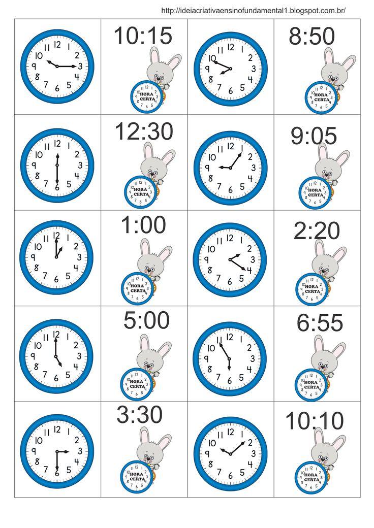 Jogo da Memória Medida de Tempo Hora Alice no País das Maravilhas Coelho Atrasado